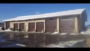New Commercial Construction Garage Door Installation